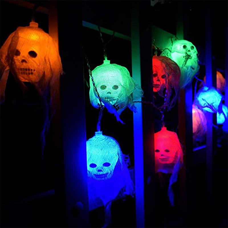 Skull gauze string lights